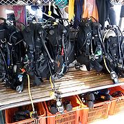 Diving stuff aboard a diving ship