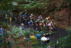 The lead group head up the climb at Boels Ladies Tour 2018 - Stage 2, a 137.9km road race in Nijmegen, Netherlands on August 29, 2018. Photo by Sean Robinson/velofocus.com