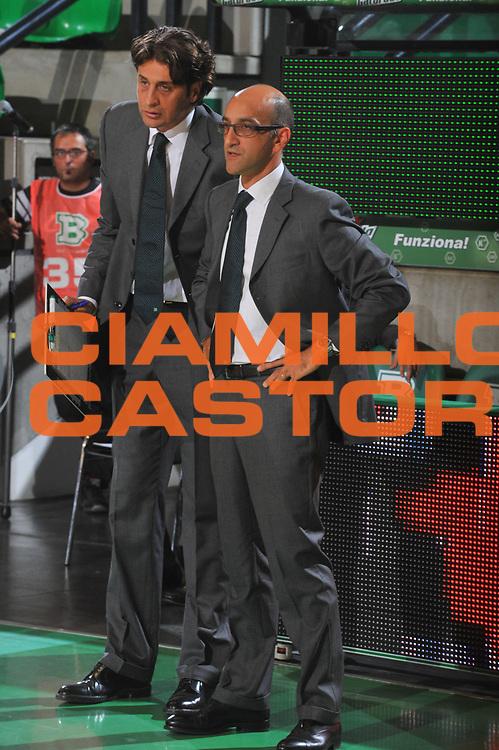 DESCRIZIONE : Treviso Eurolega 2009-10 Benetton Gioco Digitale BK Ventsplis<br /> GIOCATORE : Francesco Vitucci Nicola Marcelo<br /> SQUADRA : Benetton Gioco Digitale<br /> EVENTO : Eurolega 2009-2010<br /> GARA : Benetton Gioco Digitale BK Ventsplis<br /> DATA : 02/10/2009 <br /> CATEGORIA : Ritratto<br /> SPORT : Pallacanestro <br /> AUTORE : Agenzia Ciamillo-Castoria/M.Gregolin