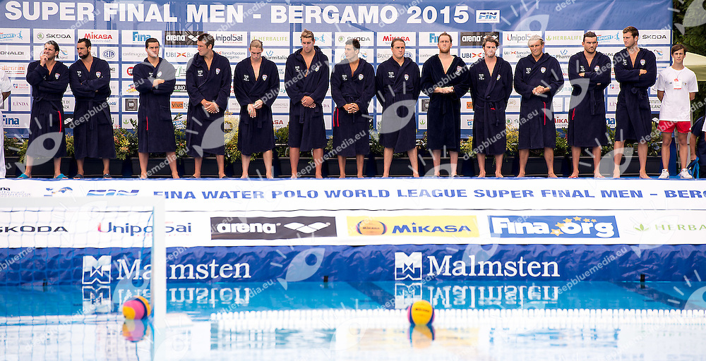 Serbia SRB - United States USA<br /> day 01 - 23/06/2015<br /> FINA Water Polo World League Superfinal Men<br /> Bergamo (ITA) 23-28 June 2015<br /> Photo G.Scala/Deepbluemedia