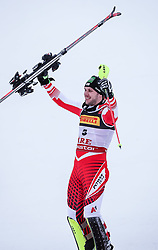 17.02.2019, Aare, SWE, FIS Weltmeisterschaften Ski Alpin, Slalom, Herren, Siegerpräsentation, im Bild Michael Matt (AUT) // Michael Matt of Austria during the winner presentation for the men's Slalom of FIS Ski World Championships 2019. Aare, Sweden on 2019/02/17. EXPA Pictures © 2019, PhotoCredit: EXPA/ Johann Groder