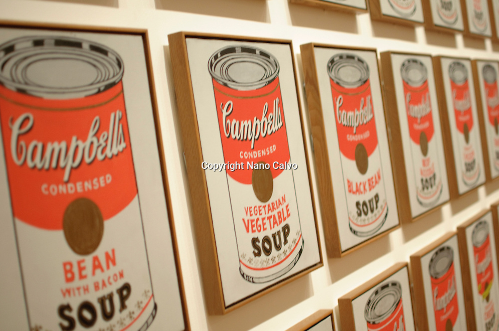 Campbell´s Soup Cans (1962), Andy Warhol. ..The Museum of Modern Art (MoMA) is an art museum located in Midtown Manhattan in New York City, on 53rd Street, between Fifth and Sixth Avenues. It has been singularly important in developing and collecting modernist art, and is often identified as the most influential museum of modern art in the world