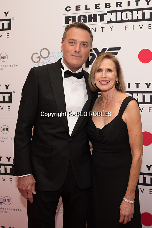 Michael W. Smith and Debbie Smith attend the Celebrity Fight Night event on March 23, 2019 in Scottsdale, AZ.