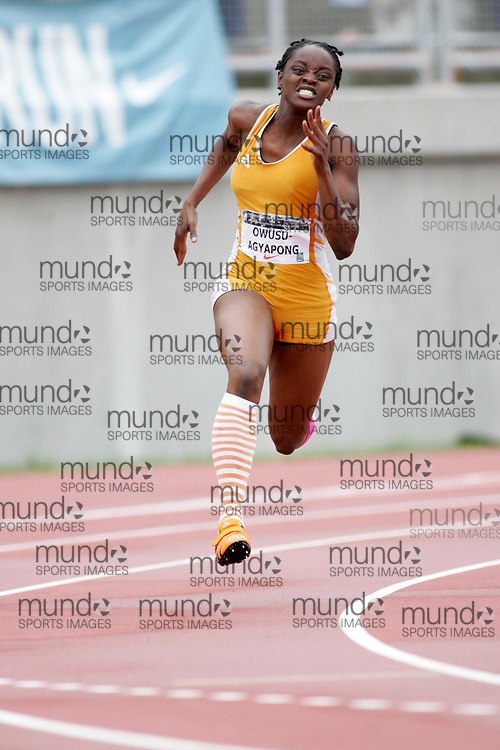 (Sherbrooke, Canada---23 July 2006) Flings Joyner Owusu-Agyapong competing in the 200m at  the 2006 Canadian Junior Track and Field Championships and national multi-events championships 21-23 July 2006 held in Sherbrooke Quebec. Copyright 2006 Sean Burges / Mundo Sport Images, www.mundosportimages.com