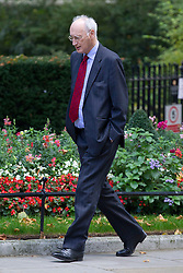 © Licensed to London News Pictures. 07/10/2013. London, UK.  Sir George Young, the Chief Whip, is seen on Downing Street in London today (07/10/2013). Photo credit: Matt Cetti-Roberts/LNP