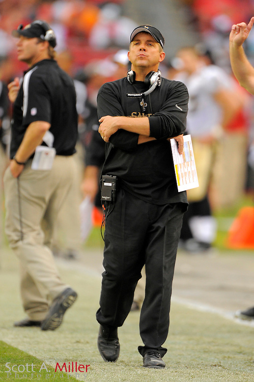 Nov. 22, 2009; Tampa, FL, USA; New Orleans Saints Sean Payton during the Saints game against the Tampa Bay Buccaneers at Raymond James Stadium. ©2009 Scott A. Miller.© 2009 Scott A. Miller