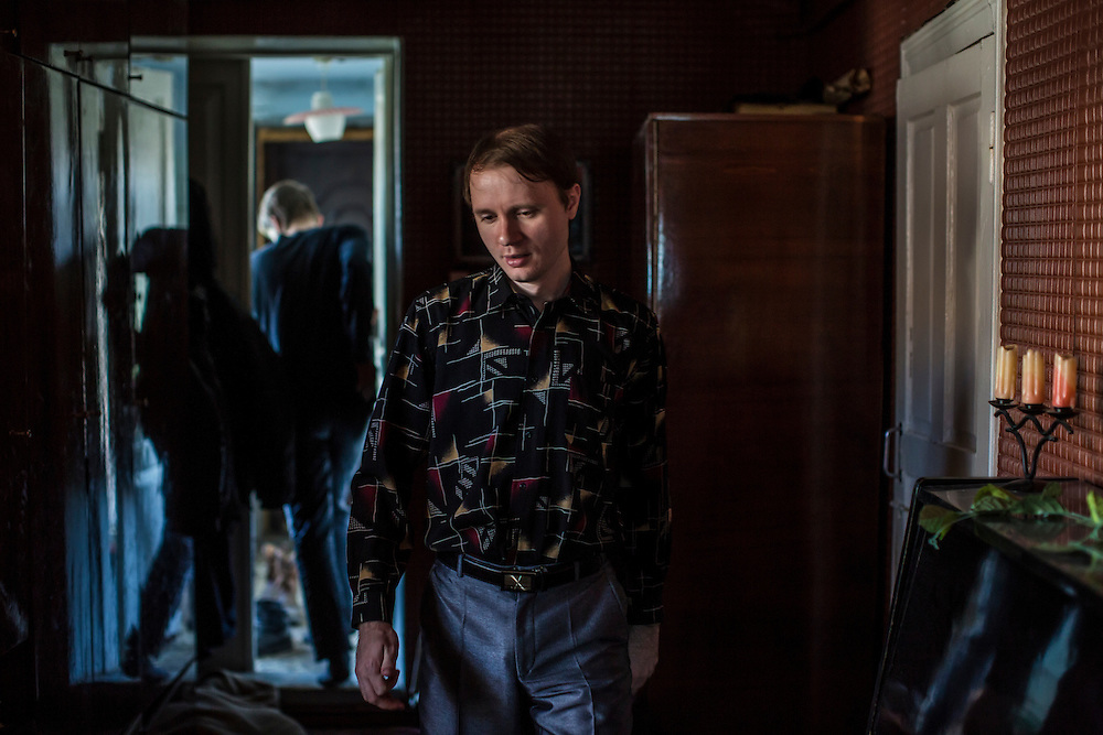 LUHANSK, UKRAINE - MARCH 16, 2015: Aleksandr Kryukov in the house where he lives with his grandmother in Luhansk, Ukraine. Together with his friend Pavel Pavlov, the two have created a series of popular YouTube videos involving scientific experiements. CREDIT: Brendan Hoffman for The New York Times