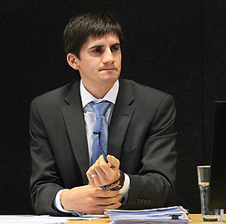 "Dr Brendon Bradley continues to give evidence at the Canterbury Earthquakes Royal Commission Hearings programme in Christchurch on the 249 Madras Street (CTV), Christchurch, New Zealand, Wednesday, July 25, 2012. Credit:SNPA / The Press, Stacy Squires  ""POOL"""