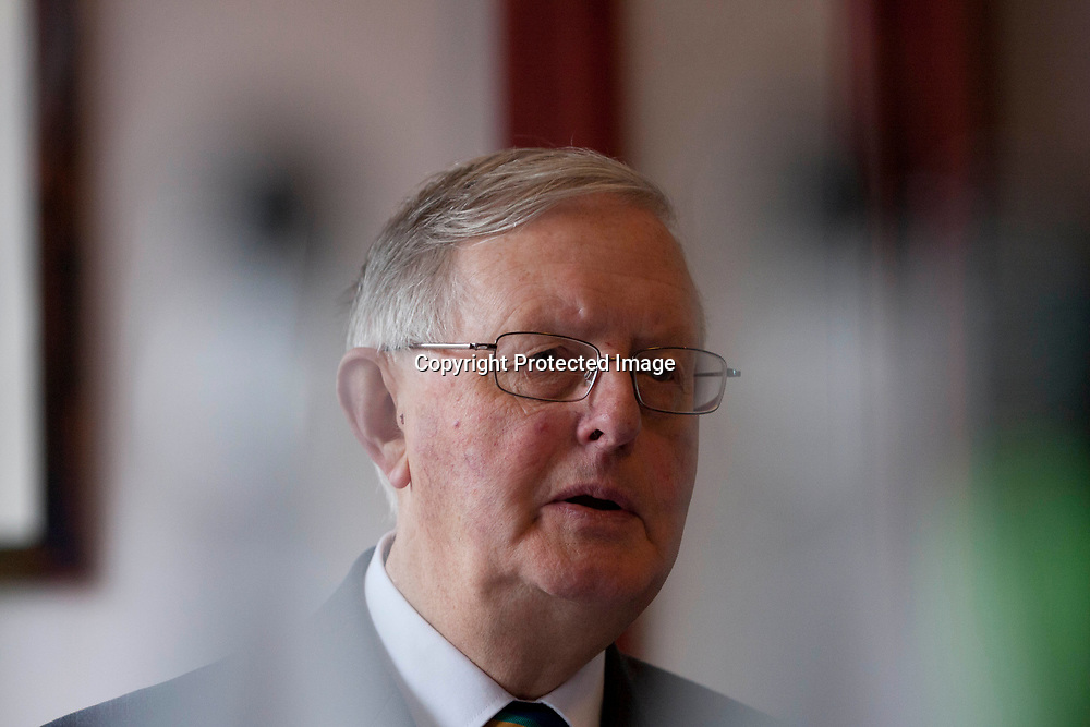 SNP leader Gordon Wilson Speech.<br /> Former SNP leader Gordon Wilson to outline his plan for an EU referendum. He wants a say on EU membership after a 'yes' vote for Scottish independence Photographed in MacDonald Hotel on 22/04/2014. Edinburgh. Pako Mera