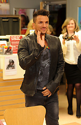 Peter Andre signs copies of his new album at the Sainsbury store in London Colney near St Albans,Hertfordshire. Monday October 29, 2012. Photo by Matthew Power / i-Images