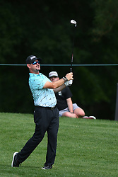 May 3, 2019 - Charlotte, NC, U.S. - CHARLOTTE, NC - MAY 03: Rory Sabbatini follows his approach shot to the 11th green in round two of the Wells Fargo Championship on May 03, 2019 at Quail Hollow Club in Charlotte,NC. (Photo by Dannie Walls/Icon Sportswire) (Credit Image: © Dannie Walls/Icon SMI via ZUMA Press)