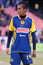 August 4, 2010; San Francisco, CA, USA;  Club America defender Jesus Armando Sanchez (14) before the game against Real Madrid at Candlestick Park. Real Madrid defeated Club America 3-2.