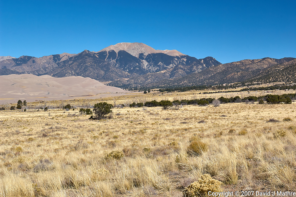 Great Sand Dunes National Park. Panorama (6 of 7). Image taken with a Nikon D2xs camera and 17-35 mm f/2.8 zoom lens (ISO 100, 35 mm, f/11, 1/125 sec).