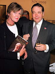VISCOUNT & VISCOUNTESS CRANBORNE at a<br />  party in London on 11th October 1999.MXK 66
