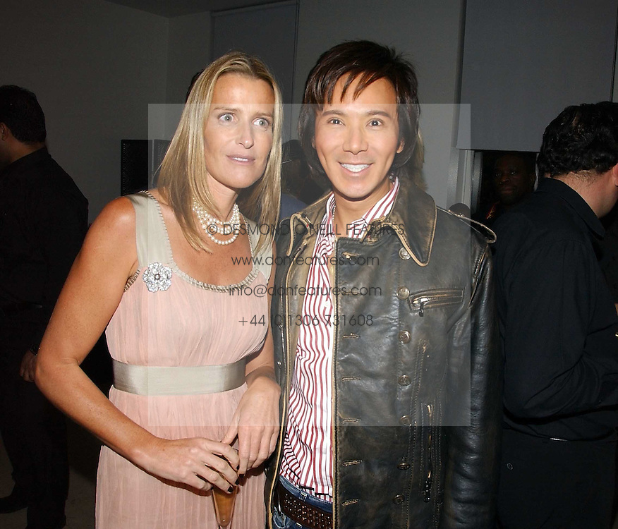 INDIA HICKS and ANDY WONG at a party to celebrate the launch of India Hick's 'Island Living' range of frangrance and beauty products in association with Crabtree &amp; Evelyn held at The Hempel, Craven Hill Gardens, London on 22nd November 2006.<br />