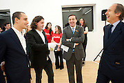 ALEX DELLAL; ADAM WAYMOUTH; CAMPBELL ROB; SIMON DE PURY, , Hoxton Sq projects auction in aid of Shelter. .- Hoxton sq. Gallery. 24 November 2010. . -DO NOT ARCHIVE-© Copyright Photograph by Dafydd Jones. 248 Clapham Rd. London SW9 0PZ. Tel 0207 820 0771. www.dafjones.com.