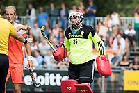 WAALWIJK -  RABO SUPER SERIE. keeper Pirmin Blaak (Ned)   tijdens  de hockeyinterland heren  Nederland-India,  ter voorbereiding van het EK,  dat vrijdag 18/8 begint.  COPYRIGHT KOEN SUYK