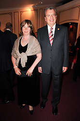 Ambassador of The Russian Federation in London YURI FEDOTOV and his wife at the World War 2 Commemoration Gala Concert marking the 65th Anniversary of the end of The War in Europe, held at The Royal Albert Hall, London on 10th May 2010.