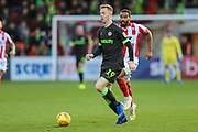 Forest Green Rovers Nathan McGinley(19) runs forward during the EFL Sky Bet League 2 match between Cheltenham Town and Forest Green Rovers at Jonny Rocks Stadium, Cheltenham, England on 29 December 2018.