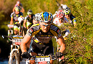 Oak Valley ( Elgin / Grabouw ), SOUTH AFRICA - Overall winner, Karl Platt during the final stage stage seven , 7 , of the Absa Cape Epic Mountain Bike Stage Race between Oak Valley ( Elgin / Grabouw ) and Lourensford on the 28 March 2009 in the Western Cape, South Africa..Photo by Karin Schermbrucker  /SPORTZPICS