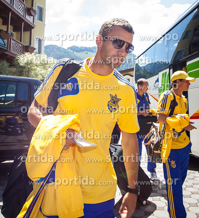 25.05.2012, Hotel Seeresidenz, Walchsee, AUT, UEFA EURO 2012, Trainingscamp, Ukraine, Training, im Bild Andriy Shevchenko // during the arrival at the Hotel Seeresidenz of Ukraine National Footballteam for preparation UEFA EURO 2012 at Hotel Seeresidenz, Walchsee, Austria on 2012/05/25. EXPA Pictures © 2012, PhotoCredit: EXPA/ Juergen Feichter