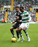 Dundee&rsquo;s Kane Hemmings and Celtic&rsquo;s Efe Ambrose  - Celtic v Dundee - Ladbrokes Premiership at Celtic Park<br /> <br /> <br />  - &copy; David Young - www.davidyoungphoto.co.uk - email: davidyoungphoto@gmail.com