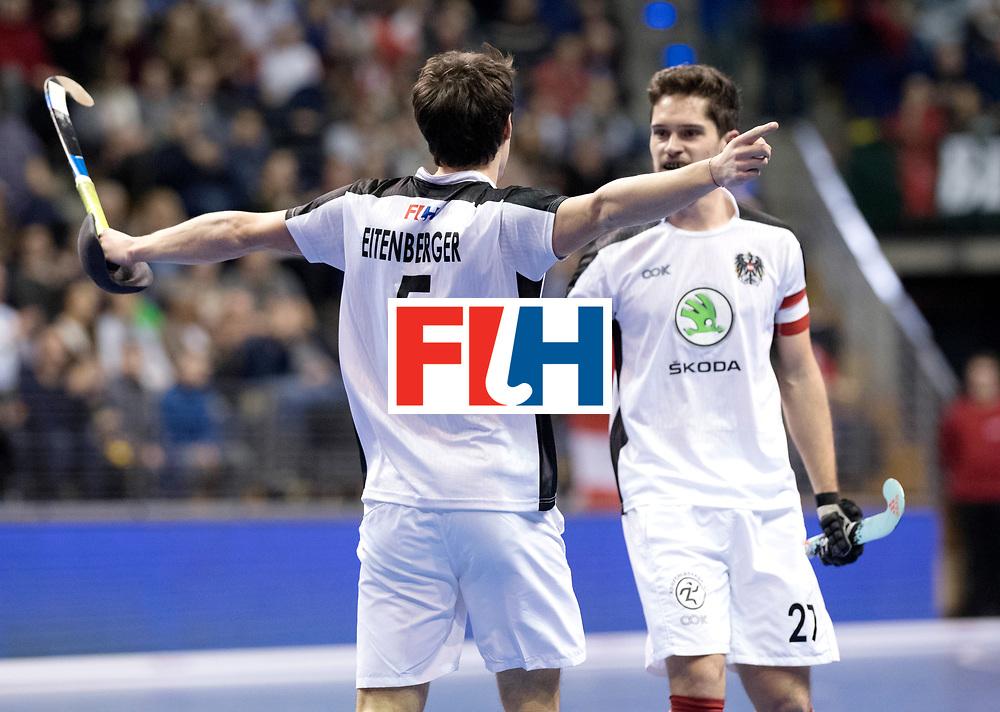 BERLIN - Indoor Hockey World Cup<br /> Quarterfinal 2: Austria - Poland<br /> foto: EITENBERGER Sebastian.<br /> WORLDSPORTPICS COPYRIGHT FRANK UIJLENBROEK