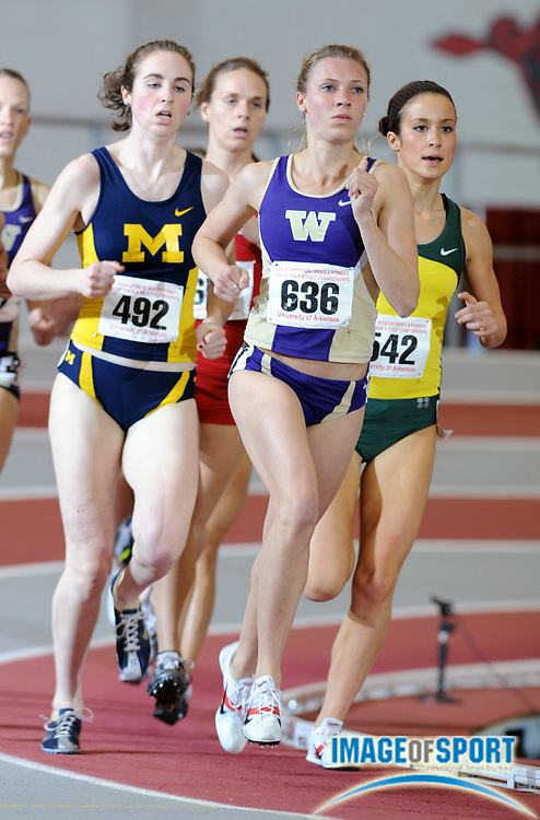 Mar 14, 2008; Fayetteville, AR, USA; Katie Follett of Washington was second in women's mile heat in 4:42.43 in the NCAA indoor track and field championships at the Randal Tyson Center.