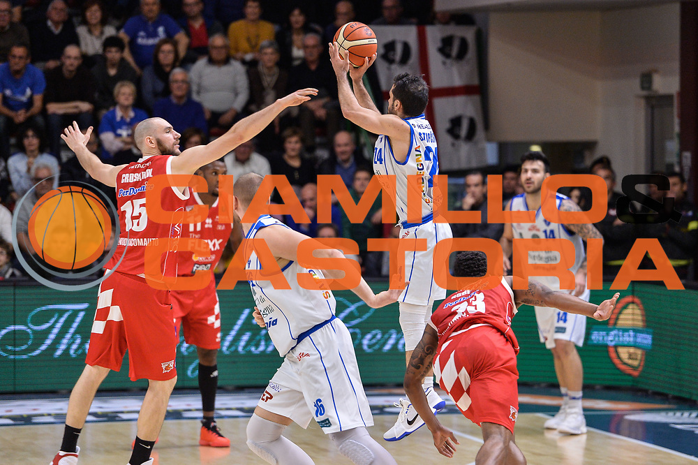 Rok Stipcevic<br /> Banco di Sardegna Dinamo Sassari - The Flexx Pistoia Basket<br /> Legabasket Serie A LBA Poste Mobile 2016/2017<br /> Sassari 04/03/2017