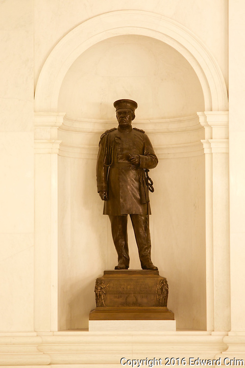 Statue of Brigadier General Thomas Stewart in the rotunda of the Pennsylvania capitol in Harrisburg.