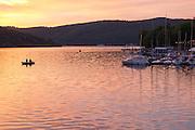 Sonnenuntergang am Edersee Nähe Staumauer, Nordhessen, Hessen, Deutschland | sunset, Lake Eder, Hesse, Germany