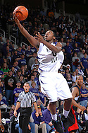 December 22, 2007 - Manhattan, KS...Guard Jacob Pullen #0 of the Kansas State Wildcats drives in for the score in the second half against the Winston-Salem State Rams, during an NCAA Basketball game at Bramlage Coliseum in Manhattan, Kansas on December 22, 2007...The Wildcats defeated the Rams 90-48.  .Peter G. Aiken/CSM