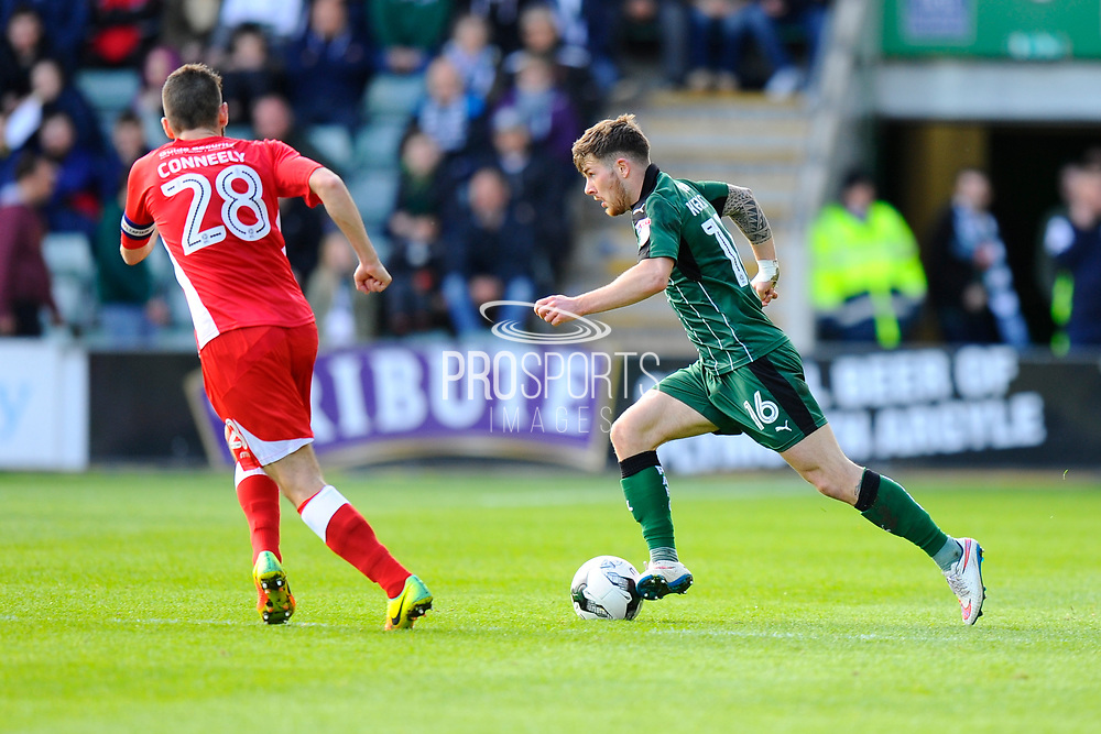 Matthew Kennedy (16) of Plymouth Argyle on the attack during the EFL Sky Bet League 2 match between Plymouth Argyle and Accrington Stanley at Home Park, Plymouth, England on 1 April 2017. Photo by Graham Hunt.