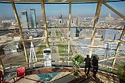 Panoramic view from the Baiterek, the New Astana's main symbol and landmark.