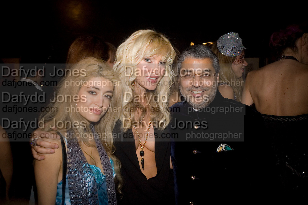 CAMILLA DUFOUR ( FORMERLY CAMILLA BIN LADEN),  CAPRICE BOURRET AND TIKKA KAPURTHALA. Patti and Andy Wong  host a night of Surrealism to Celebrate the Chinese Year of the Rat. County Hall Gallery and Dali Universe. London. 27 January 2008. -DO NOT ARCHIVE-© Copyright Photograph by Dafydd Jones. 248 Clapham Rd. London SW9 0PZ. Tel 0207 820 0771. www.dafjones.com.