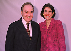 LORD & LADY PALUMBO, he is chairman of the Serpentine Gallery, at an exhibition in London on 25th February 1998.MFS 4