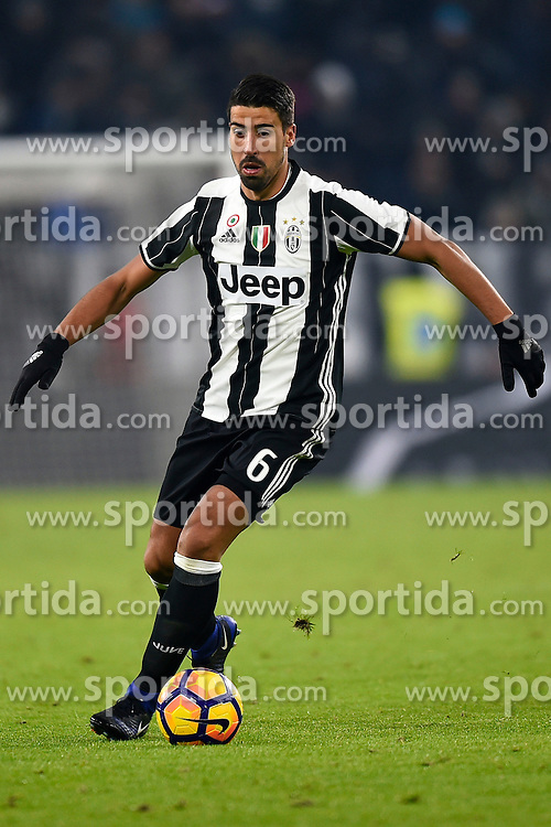08.01.2017, Juventus Stadium, Turin, ITA, Serie A, Juventus Turin vs FC Bologna, 19. Runde, im Bild Sami Khedira (Juventus F.C.) // Sami Khedira (Juventus F.C.), during the Italian Serie A 19th round match between Juventus Turin and Bologna FC at the Juventus Stadium in Turin, Italy on 2017/01/08. EXPA Pictures &copy; 2017, PhotoCredit: EXPA/ laPresse/ Fabio Ferrari<br /> <br /> *****ATTENTION - for AUT, SUI, CRO, SLO only*****