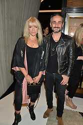 JO WOOD and ARA VARTANIAN at a party to celebrate the opening of the jeweller Ara Vartanian's Flagship Store 44 Bruton Place, London on 7th September 2016.