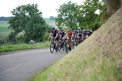 Mieke Kröger & Amy Pieters head the peloton at Boels Rental Ladies Tour Stage 5 a 141.8 km road race from Stamproy to Vaals, Netherlands on September 2, 2017. (Photo by Sean Robinson/Velofocus)