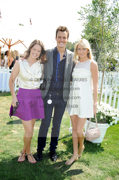 Left to right, ARABELLA MUSGRAVE, ROBERT DENNING and LADY EMILY COMPTON at the Cartier International Polo at Guards Polo Club, Windsor Great Park on 27th July 2008.<br /> <br /> NON EXCLUSIVE - WORLD RIGHTS