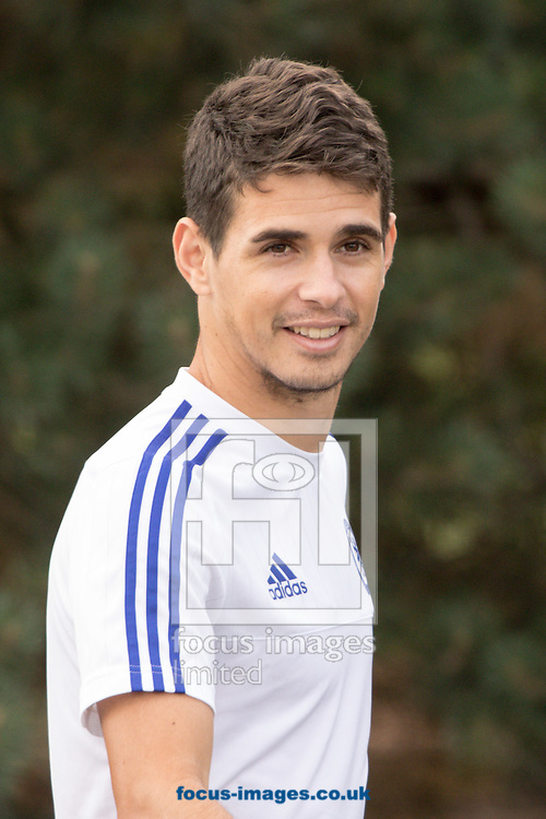 Oscar of Chelsea during a training session prior to their Community Shield match v Arsenal at Chelsea Training Ground, Cobham<br /> Picture by Mark Chappell/Focus Images Ltd +44 77927 63340<br /> 31/07/2015