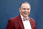 Sept 15, 2012; Dallas, TX, USA; Texas A&M Aggies president Bowen Loftin smiles during the second quarter against the Southern Methodist Mustangs at Gerald J. Ford Stadium. Mandatory Credit: Thomas Campbell/thomasgcampbell.com