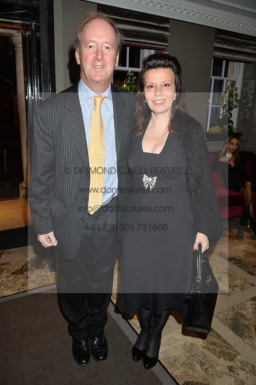 LORD & LADY NORTHBROOK at a cocktail party hosted by Mrs Sonia Falcone and Mrs Kimberley Robson Chairman of Le Bal de la Riveria 2016 for the forthcoming Ball held at Flemings Hotel, Half Moon Street, London on 27th September 2016.