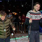 NLD/Amsterdam/20181016 - Presentatie in de Sneeuw met lil Kleine en Xander de Buisonje, aan het langlaufen