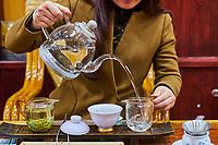 Chine, Province du Yunnan, Kunming, ecole de degustation de thé // China, Yunnan, Kunming, tea tasting school