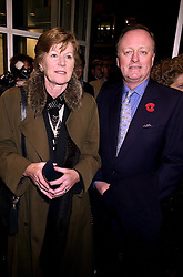 MR & MRS ANDREW PARKER BOWLES he is the former husband of Camilla Parker Bowles, at a party in London on 1st November 2000.OIP 68