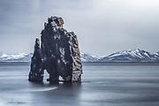 Hvitserkur is a basalt stack near the shore at Vatnsnes.