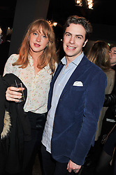 OCTAVIA DICKINSON and ROBERT SHEFFIELD at a party to celebrate the publication of Folly de Grandeur: Romance and Revival in an English Country House by Nicky Haslam held at Oka, 155-167 Fulham Road, London on 21st March 2013.