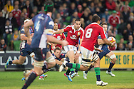 Sean Maitland (Lions) passes during the tour match of the 2013 British And Irish Lions Australian Tour between RaboDirect Melbourne Rebels vs British And Irish Lions at AAMI Park, Melbourne, Victoria, Australia. 25/06/0213. Photo By Lucas Wroe