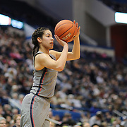 HARTFORD, CONNECTICUT- JANUARY 4:  Kia Nurse #11 of the Connecticut Huskies shoots during the UConn Huskies Vs East Carolina Pirates, NCAA Women's Basketball game on January 4th, 2017 at the XL Center, Hartford, Connecticut. (Photo by Tim Clayton/Corbis via Getty Images)